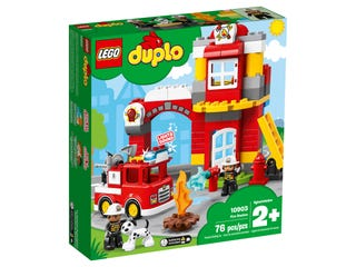 LEGO DUPLO 10901 Town Fire Truck with Light Sound Firefighter