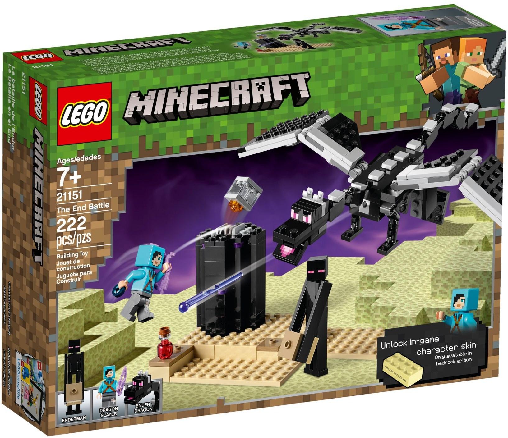 Lego Minecraft 21151 The End Battle Teton Toys Now you can have more fun in minecraft! lego minecraft 21151 the end battle