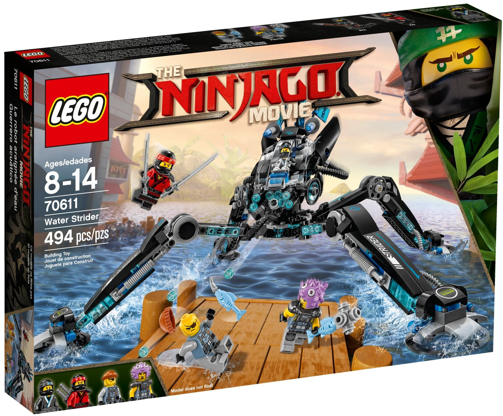 lego ninjago movie 70611 water strider  teton toys
