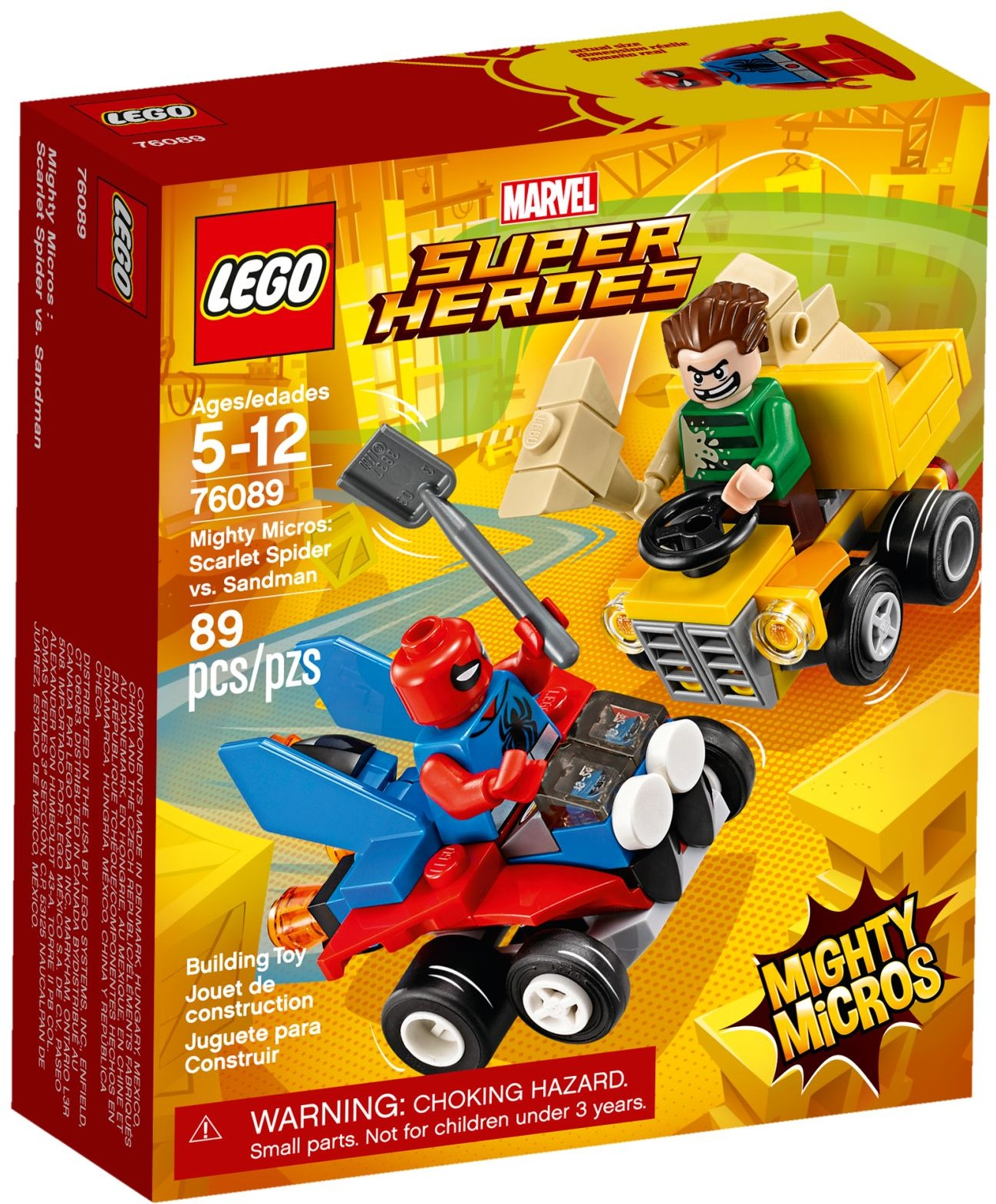 Sandman New Marvel Super Heroes Scarlet Spider vs Lego 76089 Mighty Micros